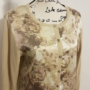 New York and company floral cardigan